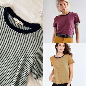 Urban Outfitters Ringer Tee Striped